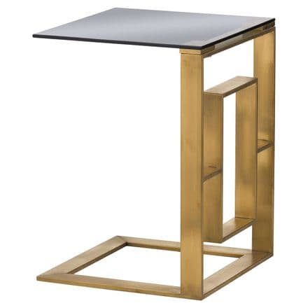 The Edwin Stainless Sofa Table In Brushed Brass